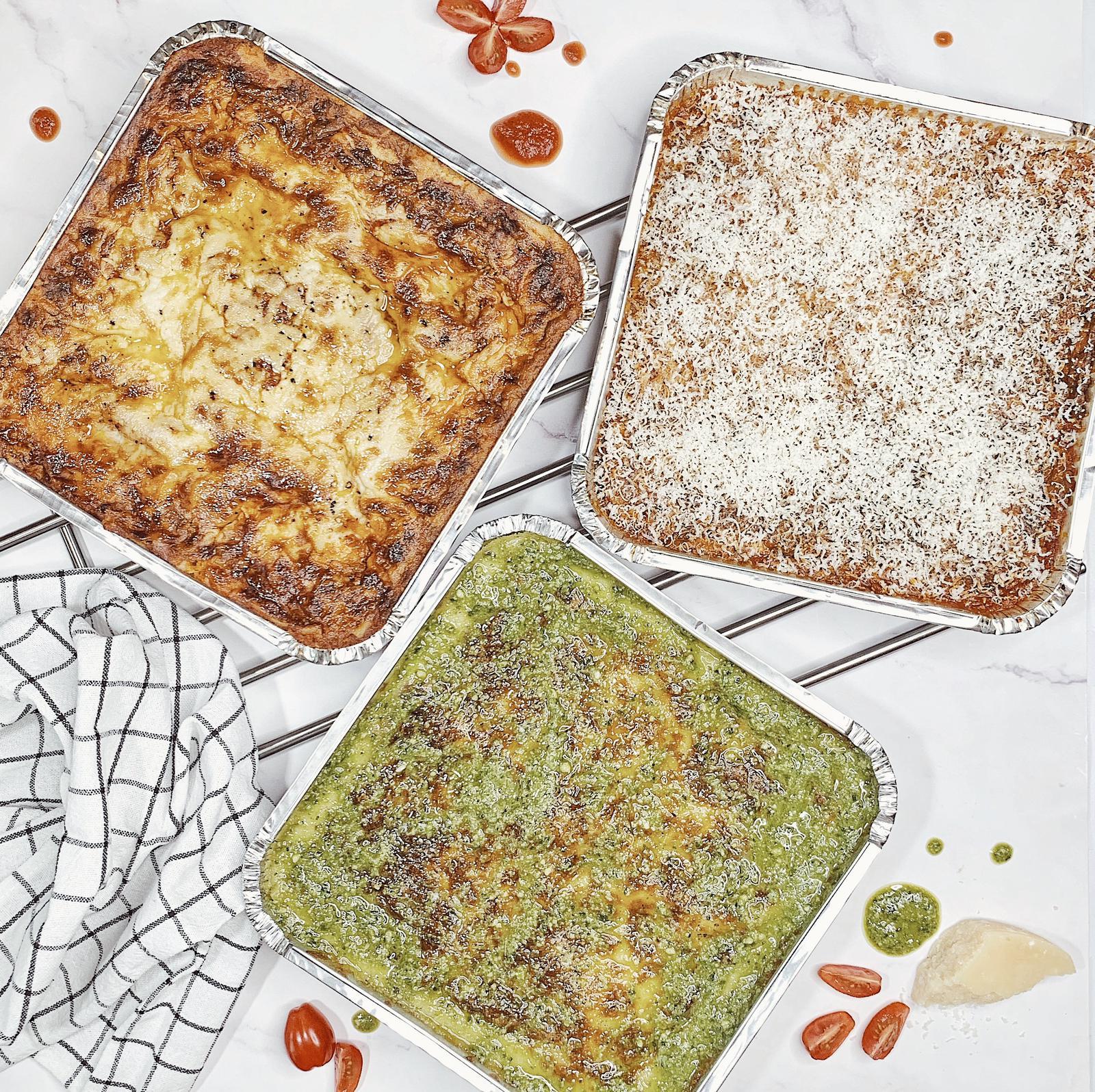 Lasagna Parmigiana Lasagna Pesto cremoloso
