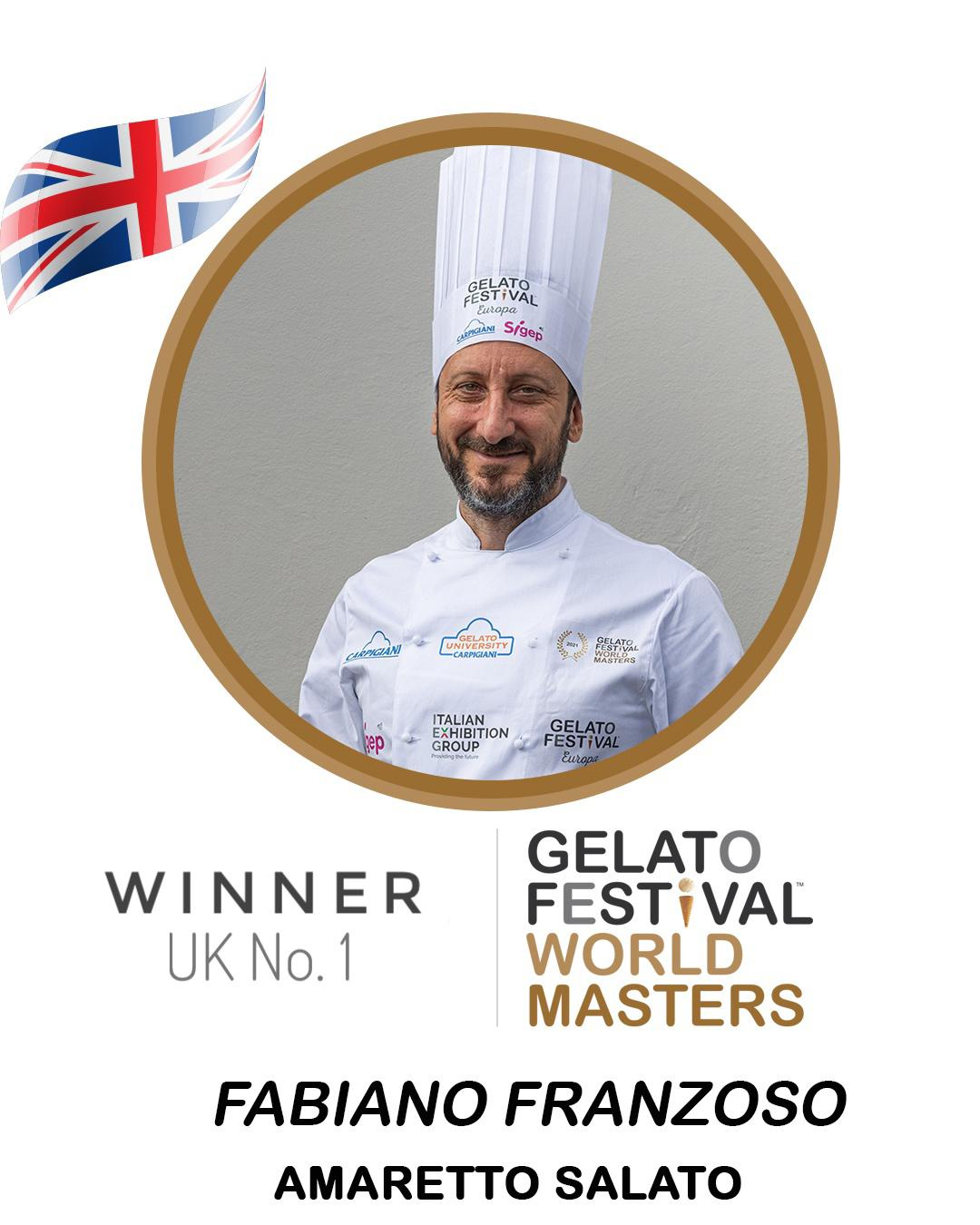 Winner UK cremoloso gelato Gelato Festival World Master