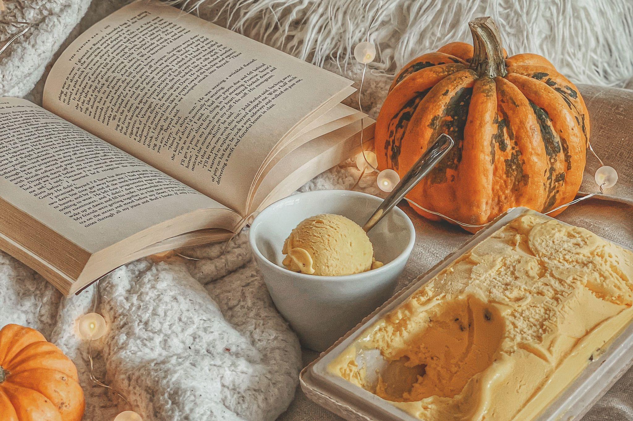 Halloween pumpkin gelato flavour
